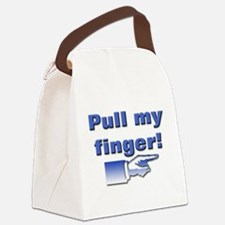 Pull my finger Canvas Lunch Bag