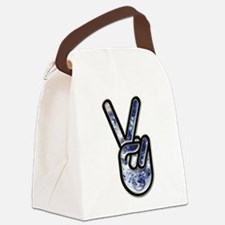 World hand Canvas Lunch Bag
