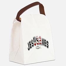 USA Jesus Canvas Lunch Bag