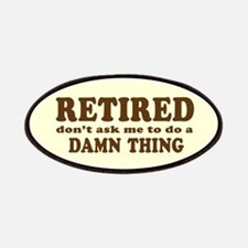 Retired: Don't Ask Me Patch (brown on pale yellow)