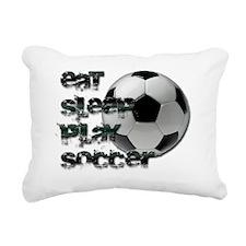 Eat sleep soccer Rectangular Canvas Pillow