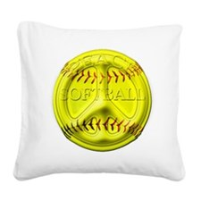 Peace softball png.png Square Canvas Pillow