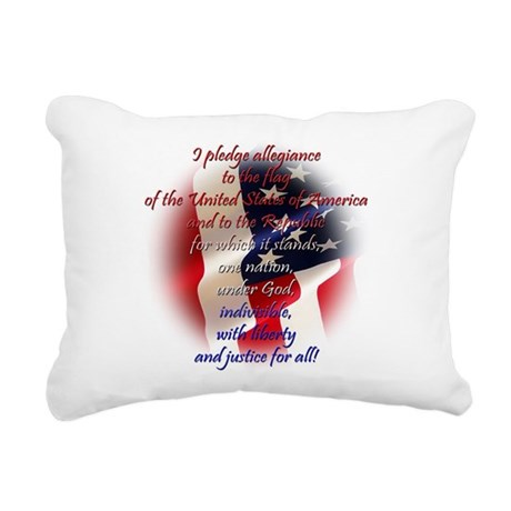Pledge Rectangular Canvas Pillow
