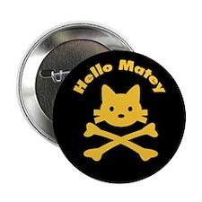 "Pirate Cat Skull 2.25"" Button (10 pack)"