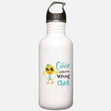Cervical Cancer Picked The Wrong Chick Water Bottle