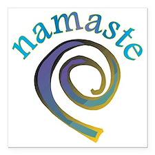 Namaste, Sanskrit Greeting of Honor Square Car Mag