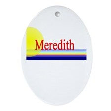 Meredith Oval Ornament