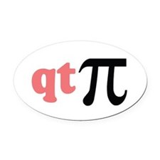 q t pie pink 1.png Oval Car Magnet