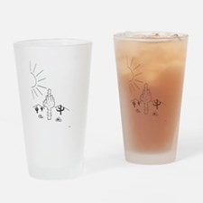 Finger Cactus Drinking Glass