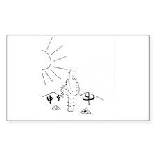 Finger Cactus Decal