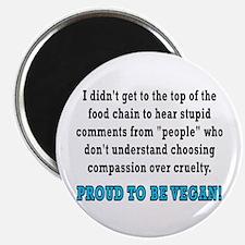 Food chain...vegan - Magnet