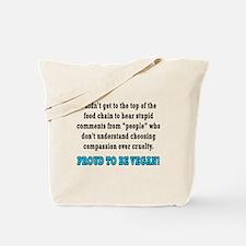 Food chain...vegan - Tote Bag