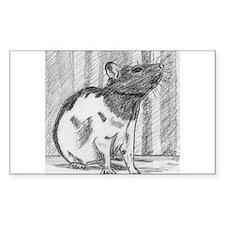 Black hooded Fancy Rat Decal