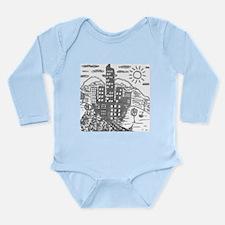 Finger City Long Sleeve Infant Bodysuit