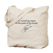 He Carved My Name Tote Bag
