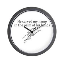 He Carved My Name Wall Clock