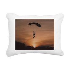 Sunset Skydiver Rectangular Canvas Pillow