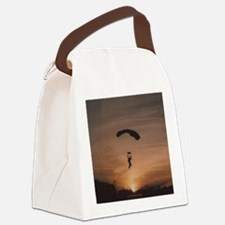 Sunset Skydiver Canvas Lunch Bag