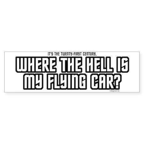 Where's My Flying Car Bumper Sticker