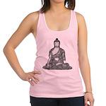 Meditating Buddha Racerback Tank Top