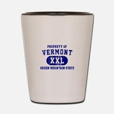 Property of Vermont, Green Mountain State Shot Gla