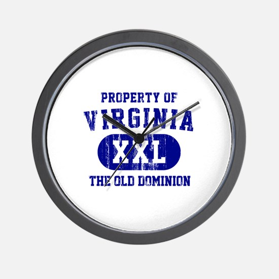 Property of Virginia the Old Dominion Wall Clock