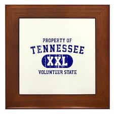 Property of Tennessee, Volunteer State Framed Tile