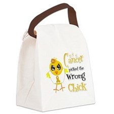 Appendix Cancer Picked The Wrong Chick Canvas Lunc