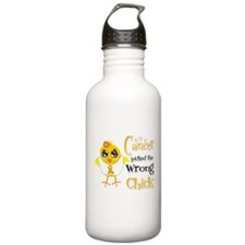 Appendix Cancer Picked The Wrong Chick Water Bottle