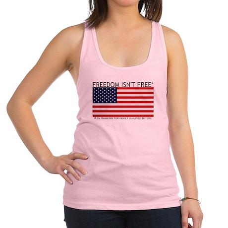 freedom isnt free Racerback Tank Top