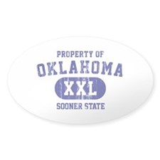 Property of Oklahoma the Sooner State Decal