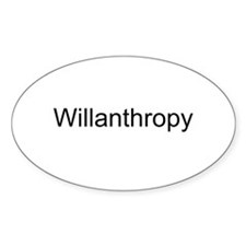 Willanthropy Oval Decal