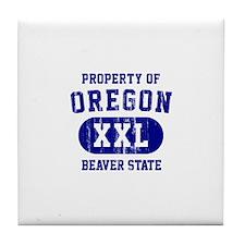 Property of Oregon the Beaver State Tile Coaster