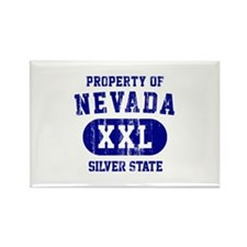 Property of Nevada the Silver State Rectangle Magn