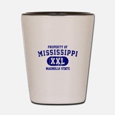 Property of Mississippi the Magnolia State Shot Gl