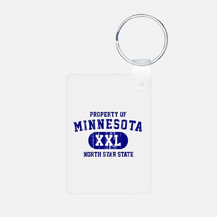 Property of Minnesota, North Star State Keychains