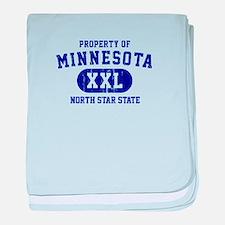 Property of Minnesota, North Star State baby blank