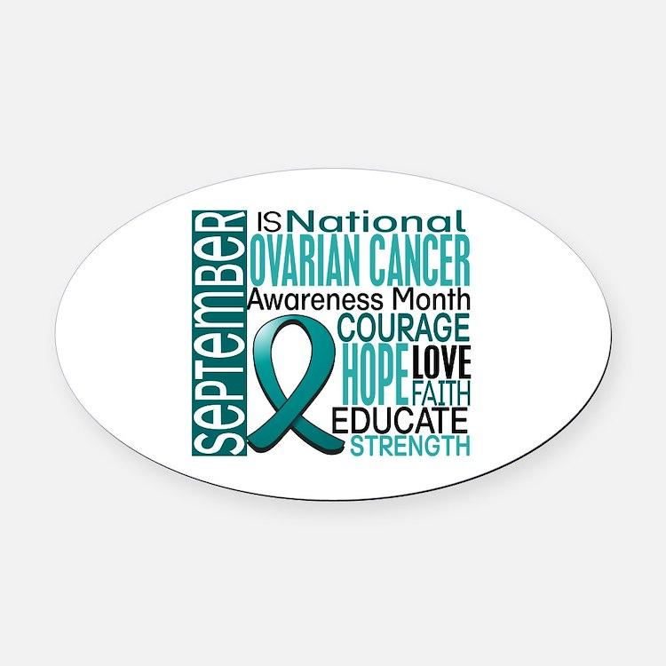 Ovarian Cancer Awareness Month Oval Car Magnet