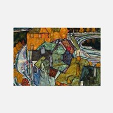 Schiele - Island Town Rectangle Magnet