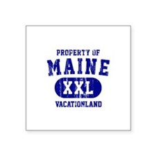 Property of Maine the Vacationland Square Sticker