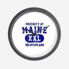 Property of Maine the Vacationland Wall Clock