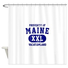 Property of Maine the Vacationland Shower Curtain