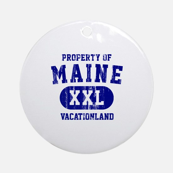 Property of Maine the Vacationland Ornament (Round