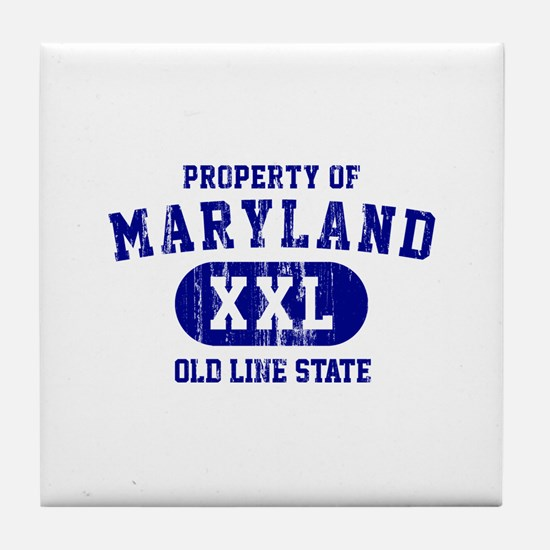 Property of Maryland the Old Line State Tile Coast