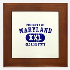 Property of Maryland the Old Line State Framed Til