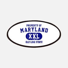Property of Maryland the Old Line State Patches