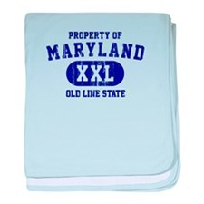 Property of Maryland the Old Line State baby blank