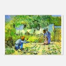 The First Step by Vincent van Gogh. Postcards (Pac