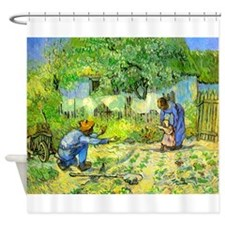 The First Step by Vincent van Gogh. Shower Curtain
