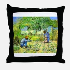 The First Step by Vincent van Gogh. Throw Pillow